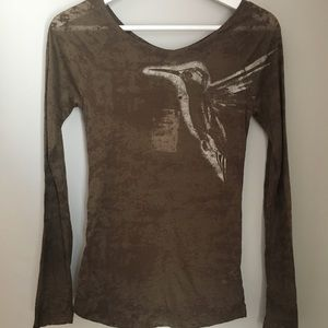 Free People Long sleeve shirt, brown size S